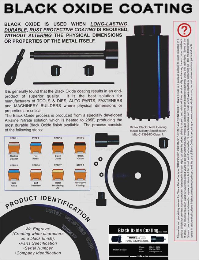 Image describing black oxide coating.